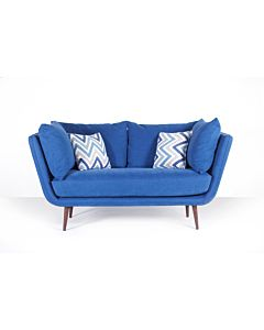 Ella Two Seater Sofa - Bilberry - Walnut Leg - 50% off was £2199