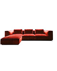 Eli Modular - Large 3 Seater Sectional Sofa & Footstool