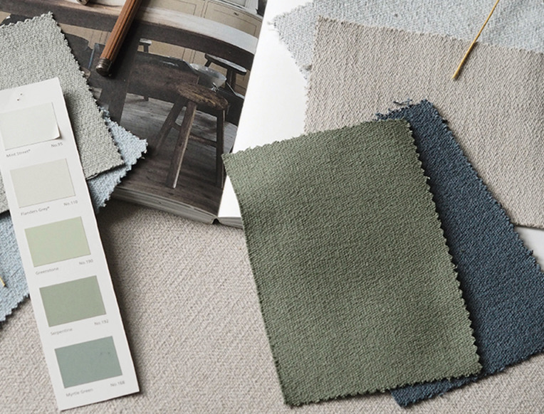 New Eco Friendly Fabric Offereing - Developed in Collaboration with Cate St Hill and Romo fabrics